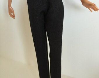 Handmade Barbie Clothes Basic Black Pants (Q316)