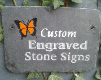 Custom Engraved Slate Signs