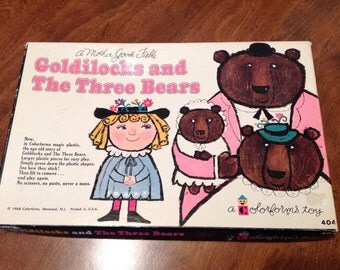 1968--Colorforms--Goldilocks And The Three Bears--Original Box--Complete With Book