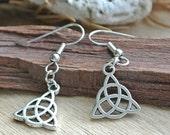Triquetra Charm Earrings // Charm Earrings // Symbols // Small Silver Earrings // Earrings Under 10 // Charm Jewelry // Silver Charm Earring