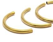 12 Raw Brass Semi Circle Tubes (3.5x41 Mm) Bs 1631