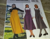 Butterick Misses Dress Jumper Pattern 3963 Size 18, 20, 22 Uncut
