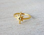 Comet Ring, geometric ring, signature ring, star ring