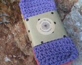 Set of Three Crochet Dishcloths, Cotton Washcloths