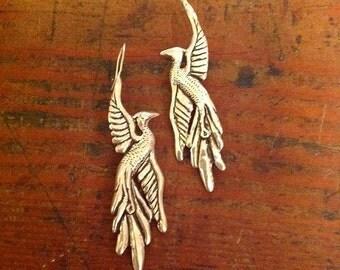Phoenix Rising Earrings in Sterling Silver