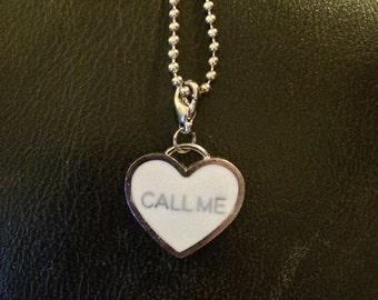 call me heart pendant