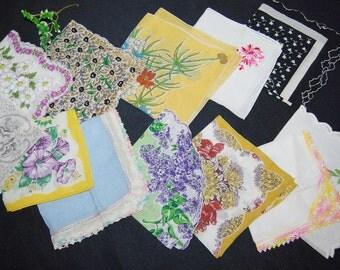 Vintage Hankies Sweet  Pretties of Joy ..........Twelve