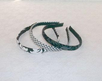 Basic Black White Narrow Headbands Set of 3