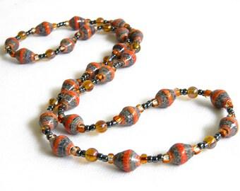 Paper Bead Jewelry - Necklace - #RA115