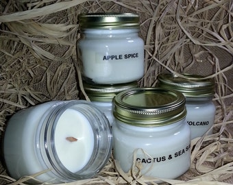 100% soy wooden wick candle  8oz choice of scent wonderful wedding favors