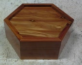 Decorative Hexagon Cedar Jewelry / Memory Box with High Gloss Finish