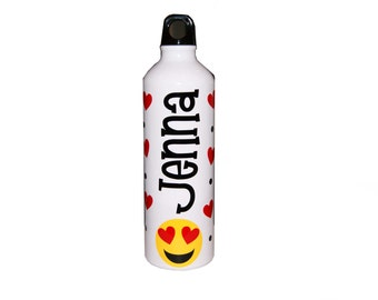 Personalized Aluminum Water Bottle - 25 fl.oz. - Emoji