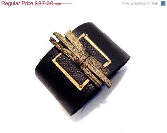 50% OFF SALE Women's leather Cuff Bracelet Elegant Wristband Fashion Jewelry Wide Bangle