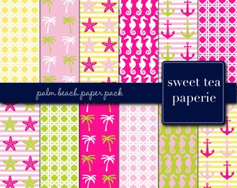 Palm Beach Digital Paper Pack (Instant Download)