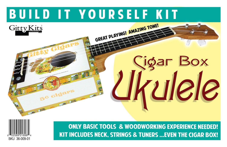 complete cigar box ukulele kit includes cigar box all. Black Bedroom Furniture Sets. Home Design Ideas