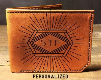personalized wallet, monogram wallet, custom wallet, leather wallet