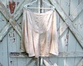 Pink Champagne - vintage 90s silk skater skirt