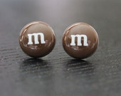 Chocolate Candy Post Earrings.