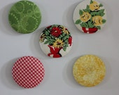 Handmade Fabric Refrigerator Magnets