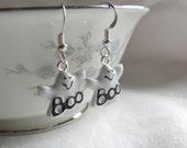 BOO - Ghost Earrings in Sterling Silver