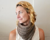 Taupe COWL - Mushroom Light Brown, Neckwarmer, Comfortable, Trendy, Boho, Chunky, Fashion, Accessory, Winter, Cozy, Warm, Hip, Yarnival.