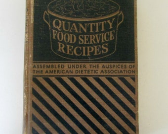 1940s Cook Book with Jean McConnell Cartoons Quantity Food Service Recipes