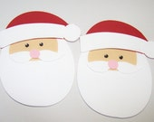 Santa, Santa Claus, St Nick, Christmas, Holidays, Red, Children, Merry Christams, Paper Piecing, Scrapbooking, Card Topper, Party Decor, Tag