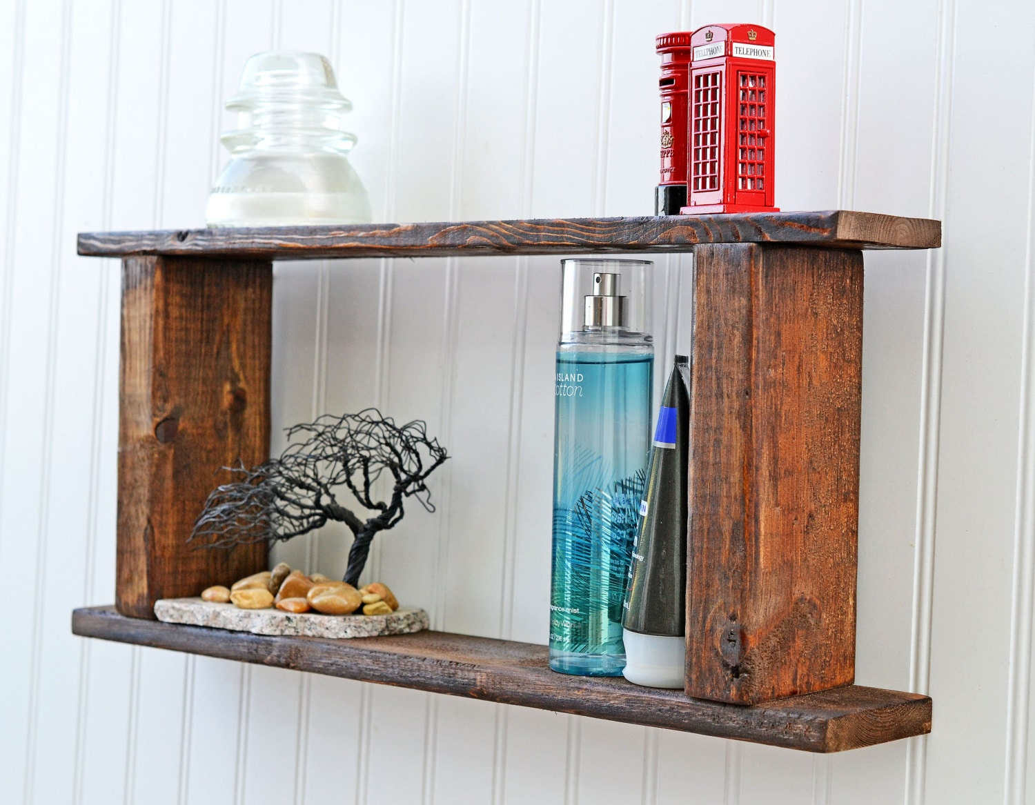 rustic bathroom shelf pallet wall shelf barn style decor