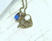 Starfish Necklace Ocean Jewelry Seaglass Necklace Nautical Jewelry Beach Necklace Starfish Jewelry