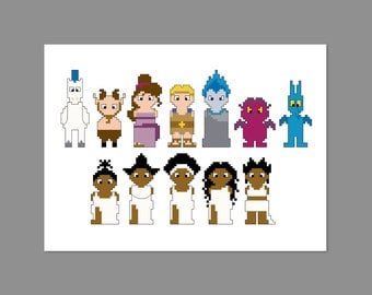 Hercules Pixel People Character Cross Stitch PDF PATTERN ONLY