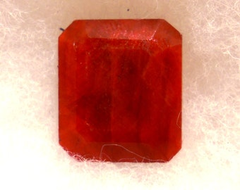 37 Carat  ... Ruby Faceted Gemstone ... 20 x 17 x 8 MM