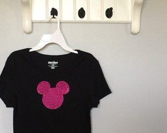 Mouse Inspired Sparkle Tee adult sizes
