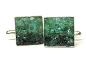Emerald Cuff Links - Custom Mosaic Cuff Links