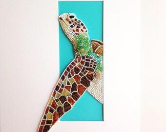 Bead Embroidered Sea Turtle