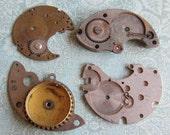 Vintage metal pocket Watch plates   - Steampunk - Scrapbooking w82