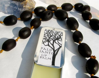 palo santo lip balm- may its taste on your lips remind you that your breath, your words, your songs and your kisses are sacred!