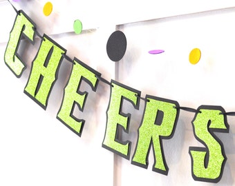 CHEERS WITCHES Bachelorette Party Banner, Cheers Banner, Cheers Party Banner, Bachelorette Party Decor, Halloween Bachelorette Party