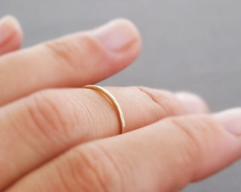 Midi Ring SUPER thin gold ring or rose gold rings stacking ring knuckle ring super thin stackable rings