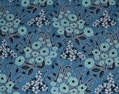 One Yard Floral Homestead Fabric with a Blue Background by Juliana Horner for Fabric Traditions