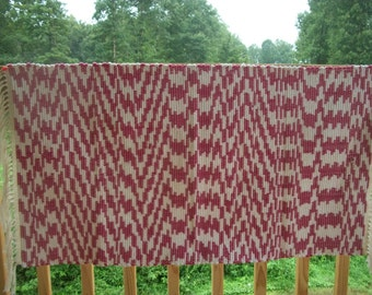 Amish hand made rugs.Hand loomed rugs. Pink and white rugs. Hand woven rugs. 100% cotton rugs. Amish area rugs.Go green.Natural cotton.