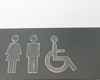 Bathroom Signs Metal metal restroom sign   etsy