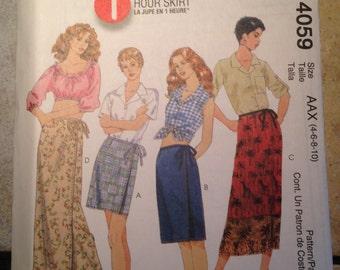 McCalls 4059 Size 4-6-8-10 Misses Skirt Pattern UNCUT
