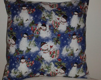 Snowman Pillow Covers 16 x 16 - Set of 2