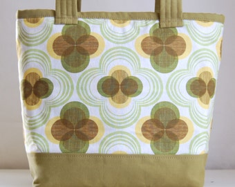 Mod Flowers Fabric Tote Bag - READY TO SHIP