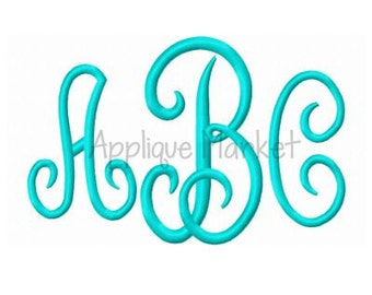 Machine Embroidery Design Alphabet Scroll Monogram Medium INSTANT DOWNLOAD