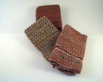 Dishcloths Knit in Cotton in Multi Colors, Knit Dishcloths, Knit Washcloths, Dish Cloth, Wash Cloth