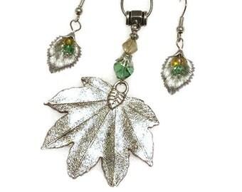 Autumn Maple Leaf earring/necklace set