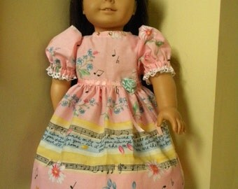 pink party dress for 18 inch doll