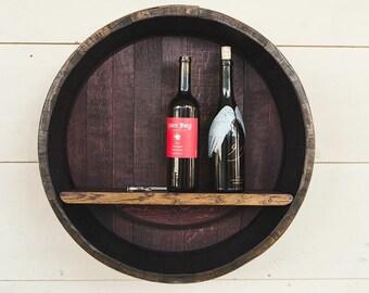 Wine Barrel Shelf