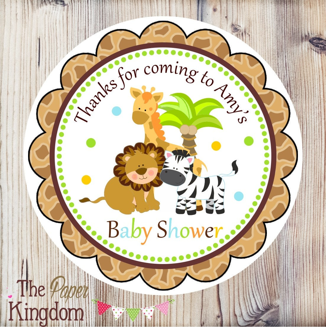 safari baby shower favor tags printable safari hang tags